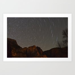 Polaris at Yosemite Falls Art Print