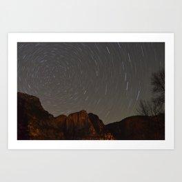 Polaris at Yosemite Falls Art Print
