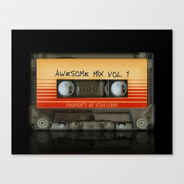 Awesome transparent mix cassette tape volume 1 iPhone 4 4s 5 5c 6, pillow case, mugs and tshirt Canvas Print