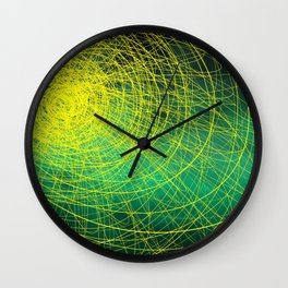Green Complex Yellow Wall Clock