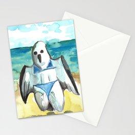 bikini ghost Stationery Cards