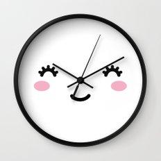 Happy Cute Face Wall Clock