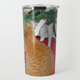 12 cats a-climbing Travel Mug