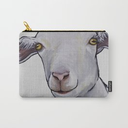 Cute Goat Art, Goat art in neutrals Carry-All Pouch