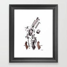Exploded Gun Framed Art Print