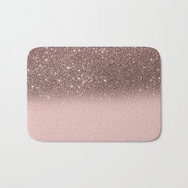 Rose Gold Glitter Ombre Bath Mat