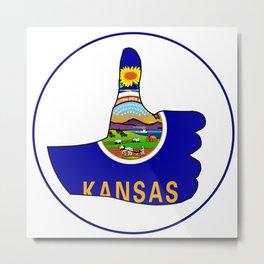 Thumbs Up Kansas Metal Print