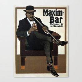Vintage poster - Maxim-Bar Canvas Print
