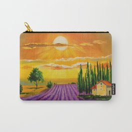 Lavender field at sunset Carry-All Pouch