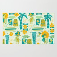 mid century Area & Throw Rugs featuring Mid-Century Tiki by Aimee Steinberger