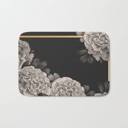 Flowers on a winter night Bath Mat