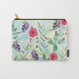 Watercolor floral garden Carry-All Pouch