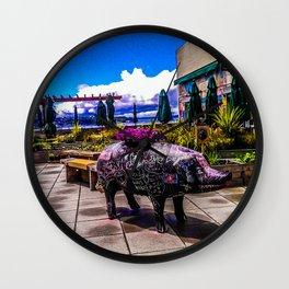 Chalkboard Pig Wall Clock