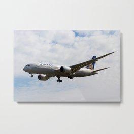 United Airlines Boeing 787 Metal Print