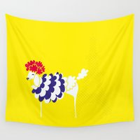poodle Wall Tapestries featuring French Poodle by MaJoBV