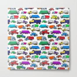 Truck Pattern Metal Print