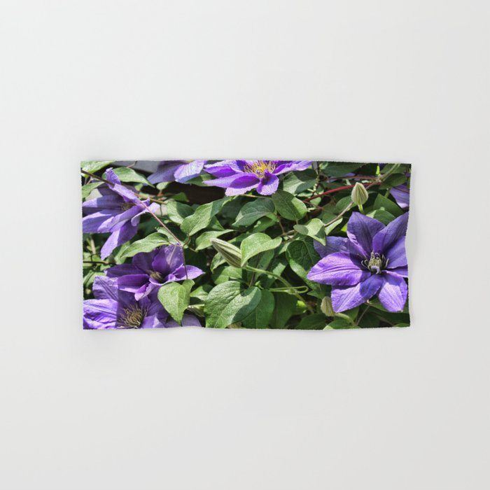 Clematis Flowers and Vines Hand & Bath Towel