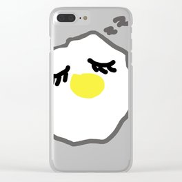 sleepy egg Clear iPhone Case
