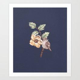 Brown Bird Art Print