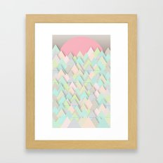 Forest Pastel Framed Art Print