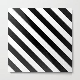 Stripe Black & White Metal Print