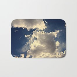 Summer Cloudy Sky Bath Mat