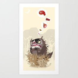 The Meat Freak Art Print