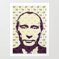 putin Art Prints featuring Putin by Vixen
