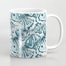 Snake skin in blue Coffee Mug