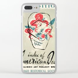 Vintage poster - Index of American Design Clear iPhone Case