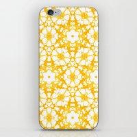 batik iPhone & iPod Skins featuring batik floral by clemm