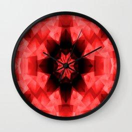 Red Poppy Star..... Wall Clock