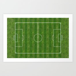 Soccer (Football) Field  on the grass Art Print