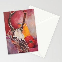 skull and pepper Stationery Cards
