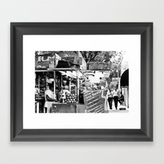 The two walkers Framed Art Print