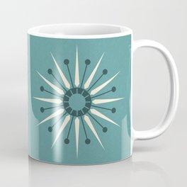 Vintage Sunburst in Blue ©studioxtine Coffee Mug
