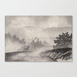 Adirondacks in the Mist Canvas Print