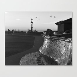 Park Güell at Dawn Canvas Print