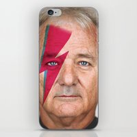 murray iPhone & iPod Skins featuring bill murray by lapinette