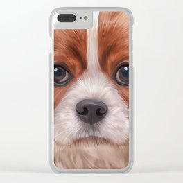Drawing Cavalier King Charles Spaniel Clear iPhone Case