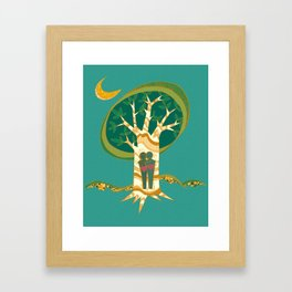 Carve Our Love Framed Art Print