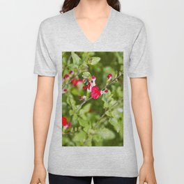 Busy bee in the flowers Unisex V-Neck