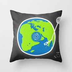Music Makes The World Go Round Throw Pillow