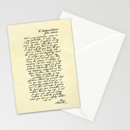 Alexander Hamilton Letter to John Laurens Stationery Cards