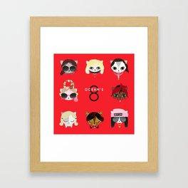 8 Cat Burglars Framed Art Print