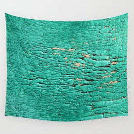 Shedding Green Wall Tapestry