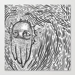 swamp thing squid cat Canvas Print