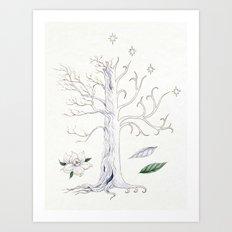 The White Tree of Gondor Art Print