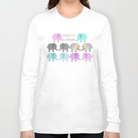 equality Long Sleeve T-shirts featuring Equality Elephants by Jessica Latham