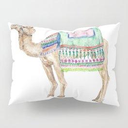 Boho Camel Tassel India Morocco Camel Watercolor Pillow Sham